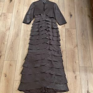 Pewter mother of the bride dress